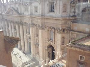 Uitzicht op de Sint Pieter vanaf het terras van het Staatsarchief