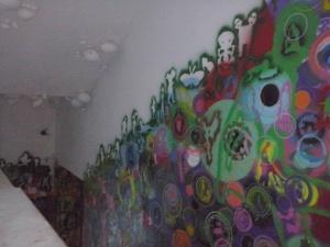 Reuzenslakken aan het plafond