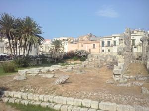 De tempel van Apollo, Ortigia (Siracusa).