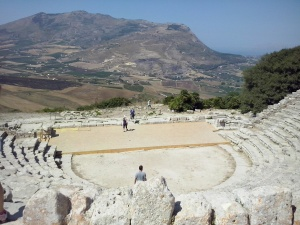 Segesta's theater.