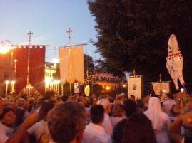Religieuze drukte rondom Palermo's beschermheilige Santa Rosalia.