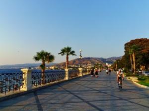 De boulevard van Reggio Calabria.