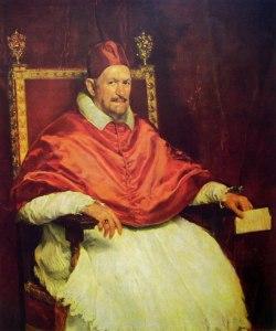 Paus Innocentius X, familienaam Giovanni Battista Pamphilj, door Velazquez