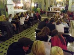 De leerlingen van het Sint Vituscollege te Bussum buigen zich over situaties uit het dagelijks leven in Rome.