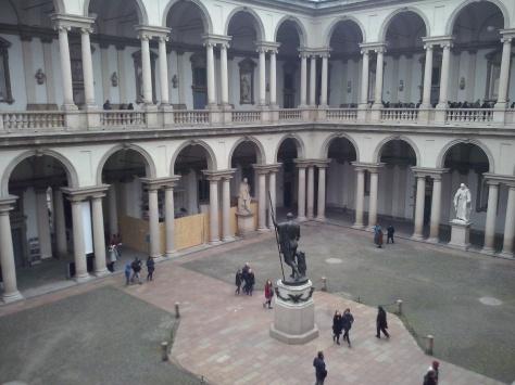 Binnenhof van de Pinacoteca di Brera.