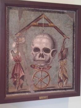 Pompeiaans mozaïek in het Nationaal Archeologisch Museum - tevens openingsbeeld van de tv-serie 'Rome' (2005)