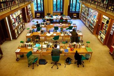 De bibliotheek.