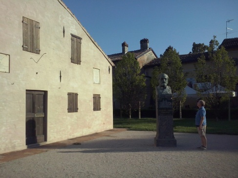 Het geboortehuis van Giuseppe Verdi in Le Roncole.
