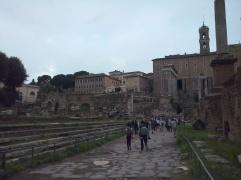 De traptreden van de Basilica Julia