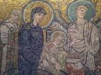 Maria, Josef, het kindje Jezus en een engel