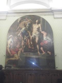 Schilderij in de Groene Zaal van het Fatebenefratelli.