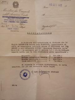 Het salaris van mevrouw Rapagnetta...uit 1969.