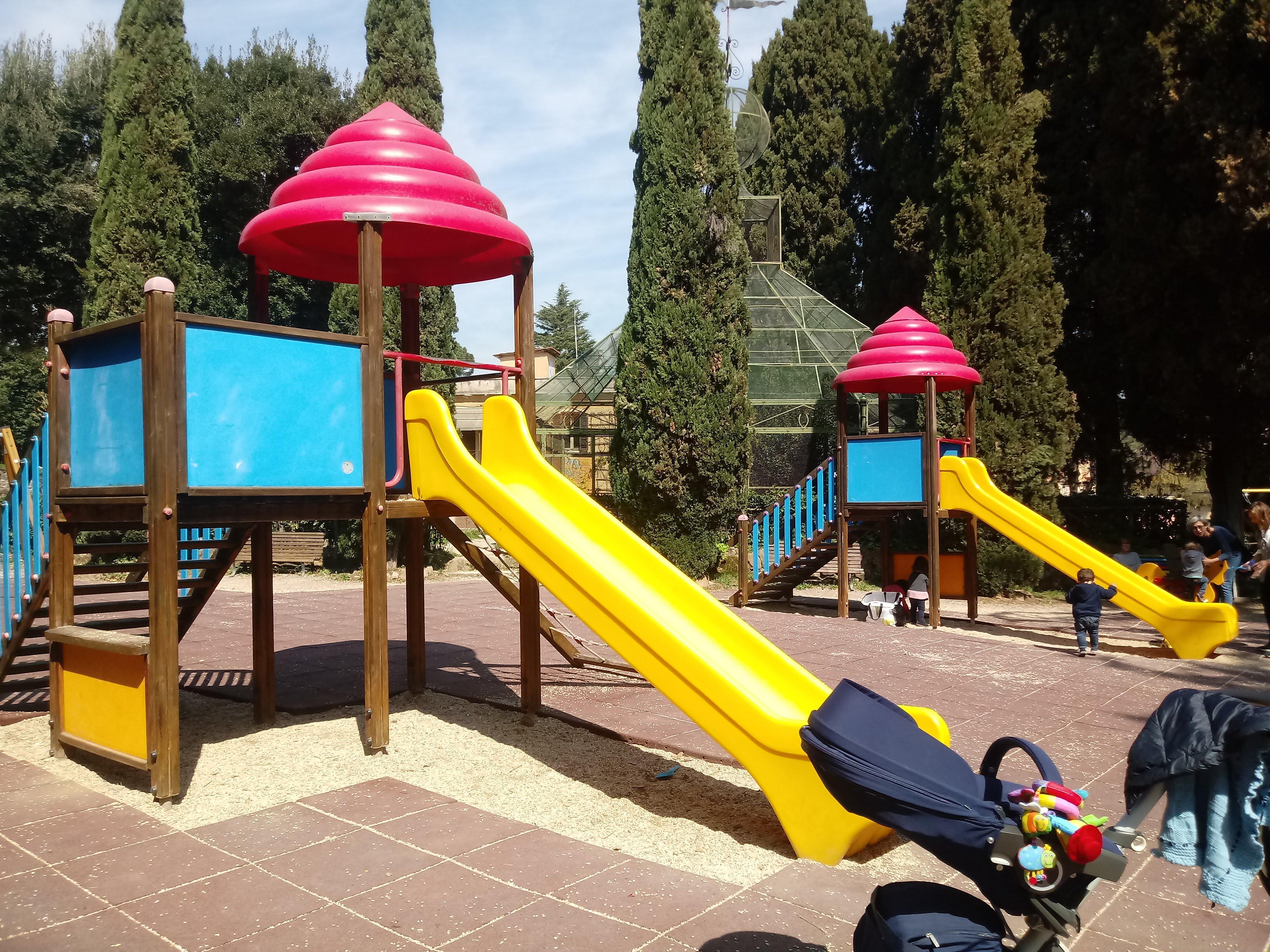 De speeltuin van Villa Sciarra